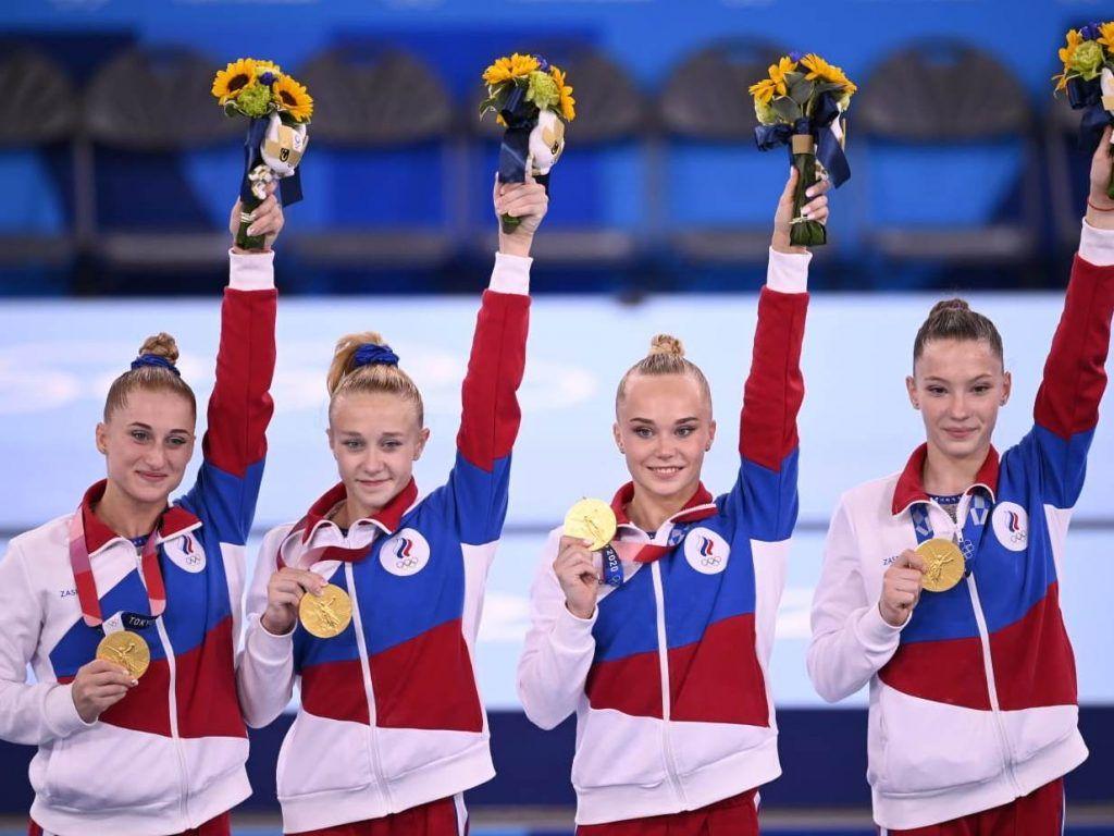 Олимпийское «золото» Токио по спортивной гимнастике...